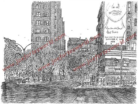 Line Drawing Nyc : Drawings from joe forte's new york greenwich village and its